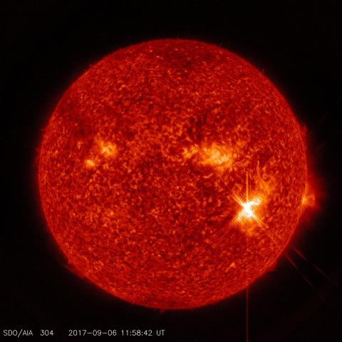 NASA captures images of high intensity solar flares