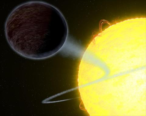 Hubble observes exoplanet so dark that it absorbs 94 percent of the visible starlight that falls on it